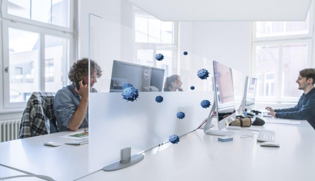 Infektionsschutz im Büro - Stellwand