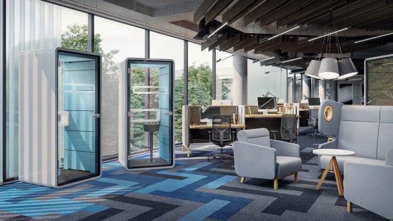 Telefonbox im Büro