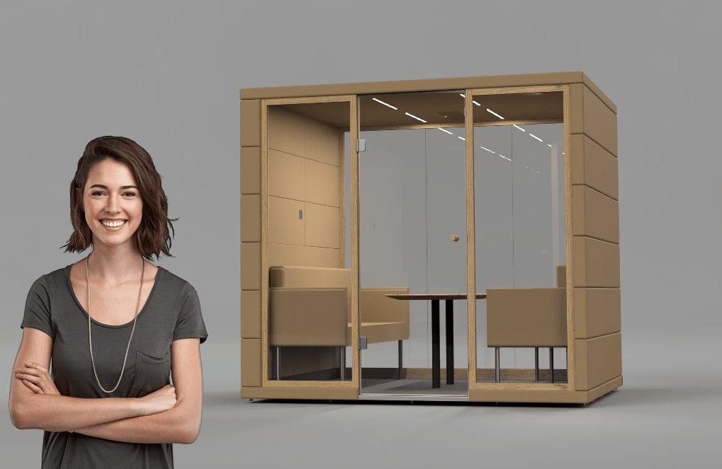 Bürobox Q3 XL mit Einrichtung