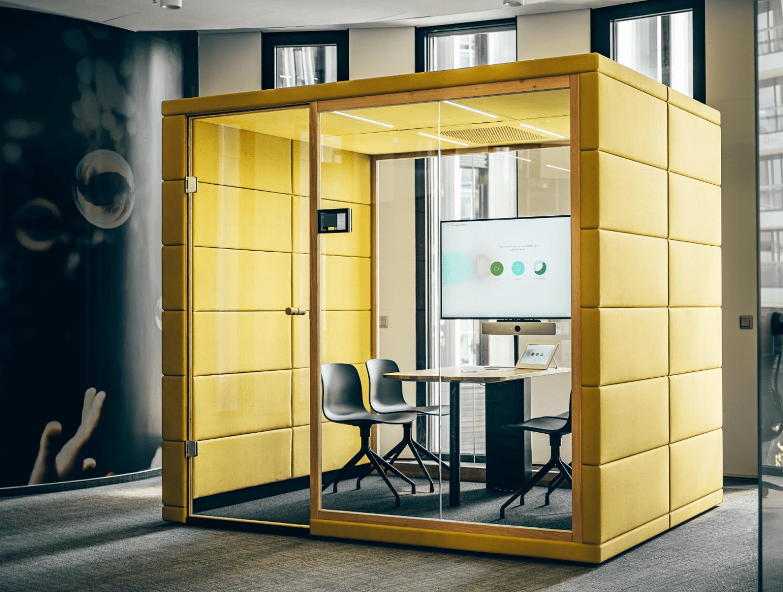 Die Officebox für Großraumbüros. Meeting-Kabine für bis zu 6 Personen