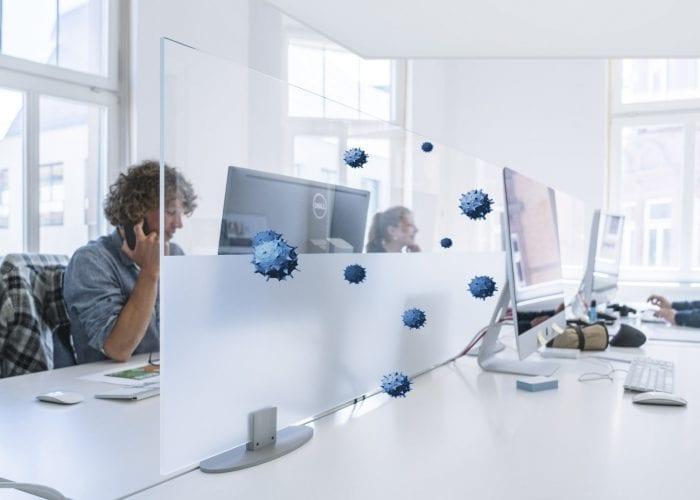 Infektionsschutz im Büro - Trennwand