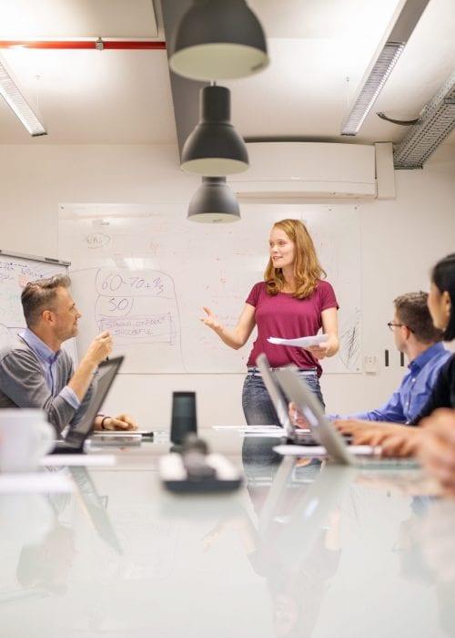 Mitarbeiter als wichtiger Teil der neuen Bürostruktur