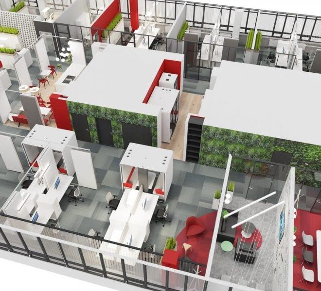 Raumplanung Büro Open Space